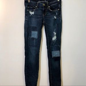AE Patched Skinny Jeans